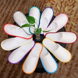 wholesale cheap bath towels NZ - Bath Disposable Slippers Hotel Towelling Slippers EVA Slipper Men Women Flip Flop White Multi color Indoor Cheap Slipper Free DHL HH7- YO8A#
