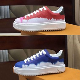 Wholesale time out for sale - Group buy 2020 Designer ladies casual shoes printed leather sneakers letter lace luxury TIME OUT sneakers thick bottom new ladies shoe size