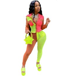 Wholesale sexy birthday outfits for sale - Group buy Plus Size Sets Womens Pants and Top Sweat Suits Sexy Club Birthday Two Piece Outfits for Women Set Clothing