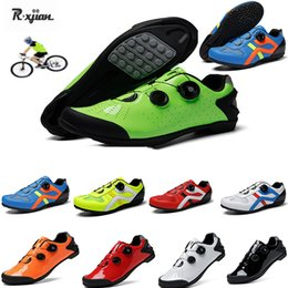 power bicycles Australia - New Unisex anti-collision power-assisted bicycle shoes non-locking professional road bike color changing shoes hard riding