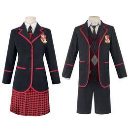 Wholesale school girl cosplay xxl for sale - Group buy The Umbrella Academy Girls School Uniform Vanya Allison Cosplay Costume Halloween Carnival Party Suits for Men Women Set