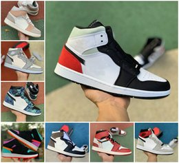 Wholesale ivory fabric dye for sale - Group buy 2020 JUMPMAN Union black s Basketball Shoes Men Women Satin Snake Mid Patent Tie Dye Tokyo UNC To Chicago Smoke Grey Varsity Red Trainers