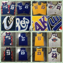 Wholesale movies online – design Retro LeBron James Cavaliers Los Angeles Lakers shirts City Movie Edition Mitchell Ness Stitched Swingman Basketball Jersey