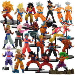 Discount vegeta toys Child Vegeta 20styles Gold Pvc Figure Z Figurine Y190529 Toy Jump Super Warriors Scultures Son Fes Goku Saiyan Black 50t
