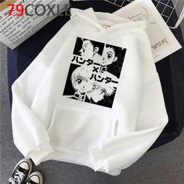Wholesale oversized long cardigan for sale - Group buy Anime Hunter x Hunter Killua Streetwear Hisoka Graphic Sweatshirts Tops Unisex Male hoodies Oversized male hoody printed streetwear