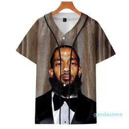 men s baseball shirts NZ - Fashion Print Nipsey Hussle Souvenir Baseball Jersey Hoodie Hot Seller Rappers T-shirt Hip Hop Art Men s and Women s Graphic Tee YE08