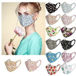 wholesale cotton face mask Australia - DHL Shipping Floral Warm Mask for Adult Washable Cycling Anti Dust Mask Windproof Cotton Masks Mouth Anti-fog Keep Warm Face Cover L615FA
