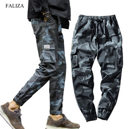 green camo jersey UK - FALIZA New Spring Mens Joggers Pants Camo Cargo Pants Men Jogger Harem Pants Camouflage Streetwear Pockets Trousers Men 7XL 200925