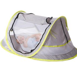 quick beds UK - Outdoor Tent Light Waterproof Kids Baby Mesh Folding Travel Camp Beach Bed Mosquito Net Tent for kids play camping Tents