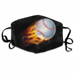 fire balls Australia - Face Masks Adult Fashion Reusable Face Mask Baseball Ball On Fire Christmas Decoration Gifts Face Masks
