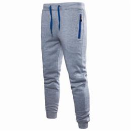 Wholesale men leggings resale online – Men Sweatpants Drawstring Solid Color Streetstyle Harem Pants Casual Winter Autumn Long Sports Man Leggings Dropshipping