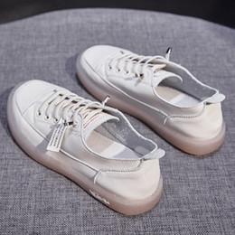 small white shoes women 2020 new autumn versatile soft leather cattle tendon soft sole pregnant flat sole single shoe board leisure trend