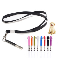 train whistles Australia - Pet Dog training supplies dog whistle ultrasonic dog flute anti-lost device colorful with neck hang rope
