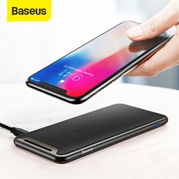 iphone xr charging station Australia - Baseus Qi Wireless Charger For iPhone Xs Max XR Samsung S9 Note 10 Xiaomi Desktop Wireless Charger Wireless Charging Pad Station