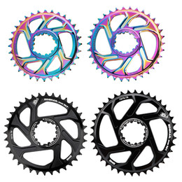 Wholesale Alloy GXP Bike Chainring 30 32 34 36 38 Teeth Wide Narrow Multi-Color 6mm Offset Aluminium Bicycle Chainring Plate For XX1 X9 XO