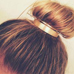 Ingrosso Disegno della clip Round Top Tornante Chignon Cage minimalista Vintage Stick capelli Forcella Girl Accessori dei capelli per monili delle donne di nozze di Natale
