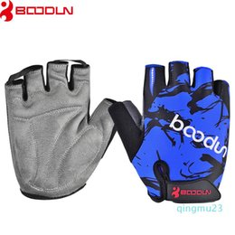 gear lift NZ - Wholesale-Boodun Sport Weight Lifting Half Finger Gloves Gym Men Breathable Gloves Women Exercise Soft Fitness Wholesale Supplier