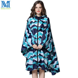 Wholesale designer trench coats women resale online - Trench Coat Style Hooded Women Raincoat Outdoor Long Rain Poncho Waterproof Rain Coat Colors Rainwear
