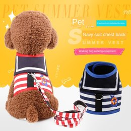 kitty weihnachten großhandel-Pet Xiong bei yi Hundebedarf Navy Traction Kitty Teddy Hundehalsband aus Leder Weihnachtshalsbänder Plaid Shirt