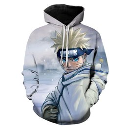 Wholesale naruto coat jacket for sale – custom Cartoon Naruto Gaara D Print Jacket Men Women Hiphop Hoodies Long sleeves Casual Sweatshirt with Hat Boys Coat ropa hombre XL