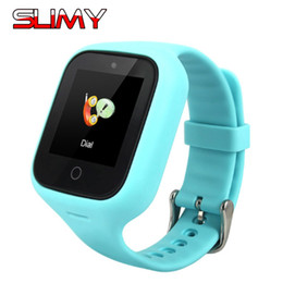 blue dial clock Australia - Slimy S668 Bluetooth Kids Smart Watch Phone Smart Baby Watch 2G Smart Wristwatch SOS Call GPS Smartwatch Clock Hours for Kids