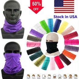 Discount stock beanies US Stock Magic Head Face Protective Mask Neck Gaiter Biker's Tube Bandana Scarf Wristband Beanie Cap Multifunctional Outdoor Sports FY7026