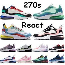 Wholesale medium arts resale online - React s running shoes bauhaus triple black white grey hyper jade chinese new year geometric art blue void bubble wrap mens sneakers