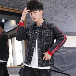 Wholesale sup jacket for sale – winter gGdZv Hand men s jacketsome SUP men s denim jacket Korean style clothes spring and youth Korean style trendy new autumn jacket Clothing