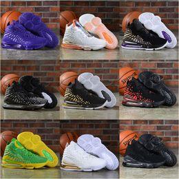 High Qaulity New Lebron 17 XVII Kids mens basketball shoes black white Future 17s sports sneakers trainers Athletic black white Future