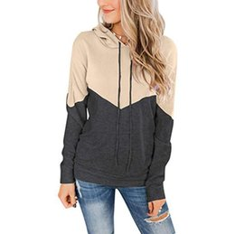 Wholesale ladies hoodie jumpers online – oversize Women Hoodies Collared long sleeve Matching Rope Hoodie Jumper Outerwear Lady Loose Sweatshirts Pullover Hoodie Casual Apparel GWD1846
