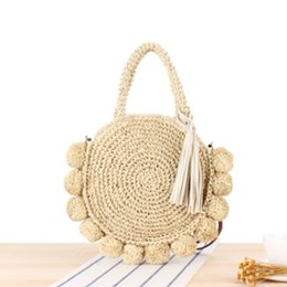 weaving straw tote bags NZ - Women's Straw Handbag Shoulder Lady Weave Crossbody Bag Tote Summer Holiday Beach Tot Satchel Purse
