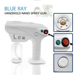 light machine gun UK - Handheld Wireless Blue Light Nano Steam Gun Atomization Disinfection Fog Machine Hair Spray Machine Household Cleaning Tools CCA12514 12pcs