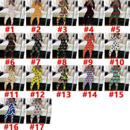 Wholesale animal print bodysuit women for sale – dress 2020 Women Autumn Jumpsuits Desinger Bodysuit Workout Button Skinny Hot Print V neck Long Pants onesies Women Plus Size Ladies Rompers11