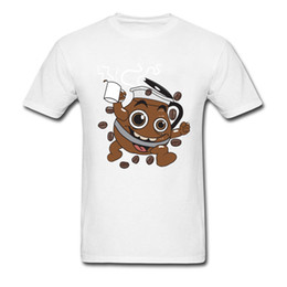 scout shorts UK - 80's Coffee Comic Funny T-Shirt Skateboard Tops Shirt For Men High-Elastic T Shirt Scout able Crewneck Tops Shirt Top Quality