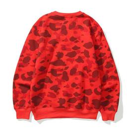 Nouveau design pour Hoodies Hommes Femmes Camouflage Pulls Automne manches longues chaud Sweat Homme Streetwear 4 couleurs Option en Solde