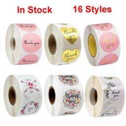 Rosa Papier-Aufkleber-Gold danken Ihnen Aufkleber Scrapbooking 500pcs für Hochzeits-Geschenk-Karten-Geschäfts Verpackung Stationery Sticker im Angebot