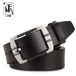 men belt brown NZ - [LFMB] leather belt men male genuine leather strap designer belts men high quality ceinture homme cuir veritable cinto masculino