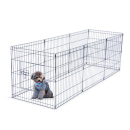 """WACO Dog Exercise Pen and Pet Playpen,Outdoor 8 Panel Foldable 24"""" Tall Wire, Different Shape Dog Cat Pet Exercise Fence Black on Sale"""