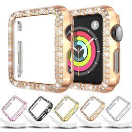 Cassa del diamante per Apple Osservare 5 44 millimetri 40 millimetri iWatch Serie 4 schermo protettivo coperchio della scatola della vigilanza del pc per la vigilanza 3 della mela caso 38 millimetri 42 millimetri in Offerta
