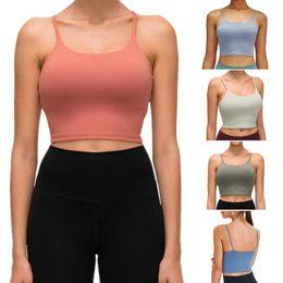 Femme Plaine Cami Crop Top à bretelles Bralette Gym Top Running Soutien-gorge Bustier XS XL