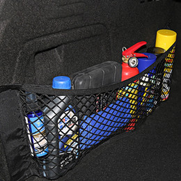 storage car trunk organizers Australia - Car Magic Sticker Mesh Storage Bag 40*25cm Car Back Rear Trunk Seat Elastic String Net Pocket Cage Auto Organizer Seat Back Bag DBC BH4077