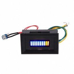 12V Unversal Motorcycle Car Oil scale meter LED Oil Fuel level Gauge Indicator zfQJ# on Sale