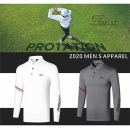Vente en gros Golf Vêtements Hommes à manches longues respirant Vêtements séchage rapide T-shirt décontracté Mèche Jersey Polo Sport Top Automne