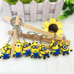 minion key rings UK - Keyring 500pcs lot 3d Keychain Hot Figure Sale Despicable Order Minion Action 18 Mix Styles Free Dhl 2015 Cute Ring Me Key bbyeq lg2010