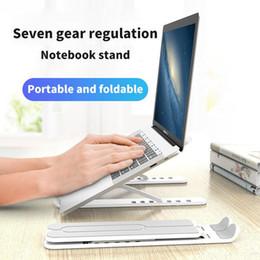 Lega di alluminio Titolare portatile pieghevole Holder Notebook per MacBook Lenovo HP Lapdesk Altezza regolabile Computer raffreddamento Staffa in Offerta