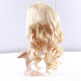 blonde body wave full lace NZ - High Quality Blonde Body Wave Front Lace Wigs #613 Blonde Brazilian Virgin Hair Body Wave Full Lace Human Hair Glueless Blonde Wigs