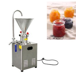 Wholesale Peanut butter sesame paste grinder for food chemical industry, chili paste sesame paste making machine, colloid mill