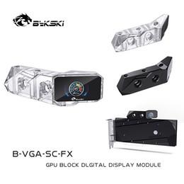 Wholesale block b for sale – custom Bykski B VGA SC FX Thermometer For GPU Water Block Digital Temperature LCD Screen OLED Temperature Monitor CNC Module