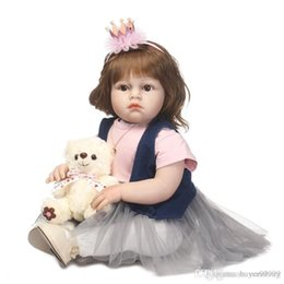 soft toys china NZ - Soft Silicone Realistic Reborn Toddlers Girls Baby Handmade Dolls 28 Inch Babies Kids Toys With Hair
