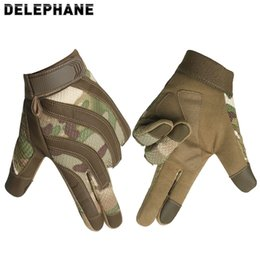 Wholesale military winter gloves for sale - Group buy Full Finger Military Gloves Touch Screen Hand Protective Army Gloves Men Women Winter Summer Tactico Shooting Fight Paintball